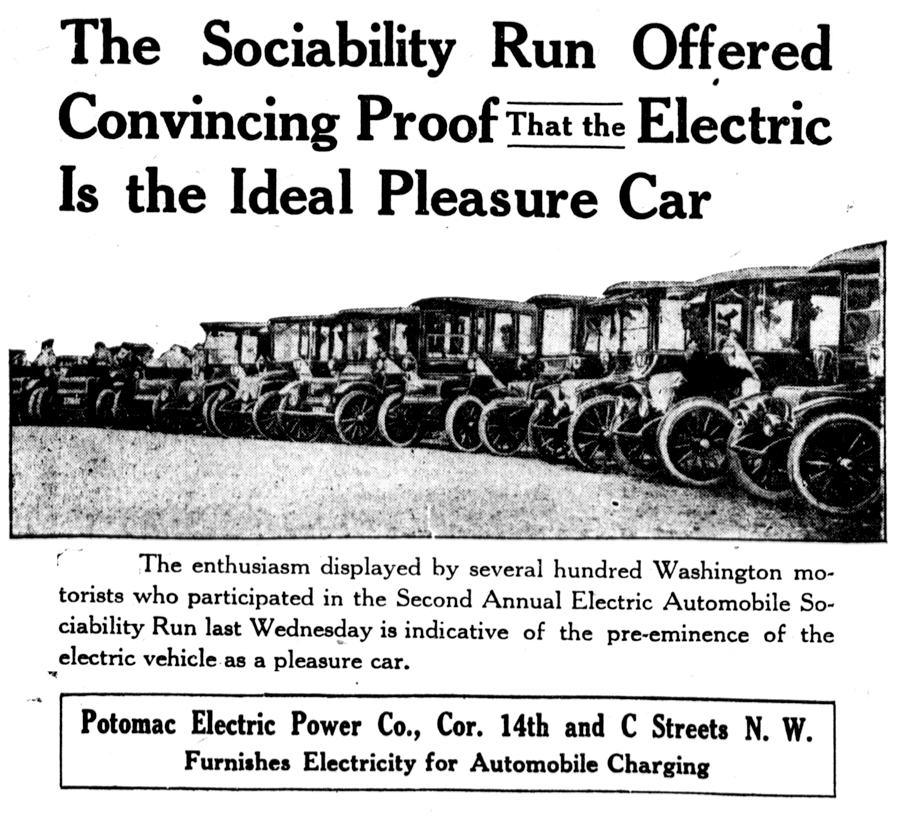 1915 Sociability Run Group Photos Electric Sociability Run